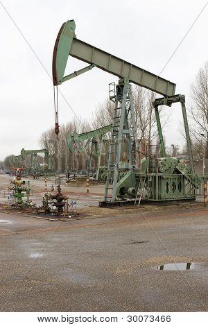 Campo petrolífero em operação