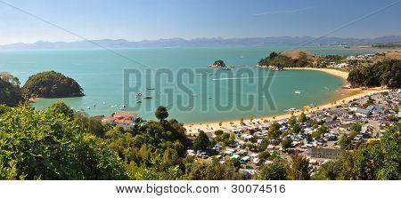 Kaiteriteri Camp & Beach Panorama, New Zealand