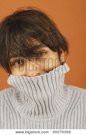 Porträt der Mann mit Rollkragen