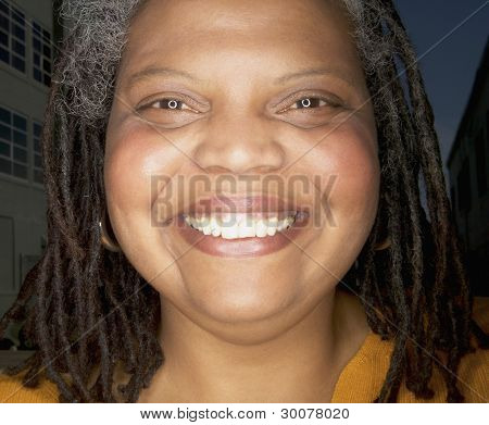 close up Portrait of Woman smiling