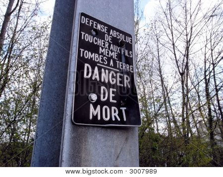Danger De Mort Sign