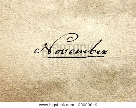 100 years old handwritten november