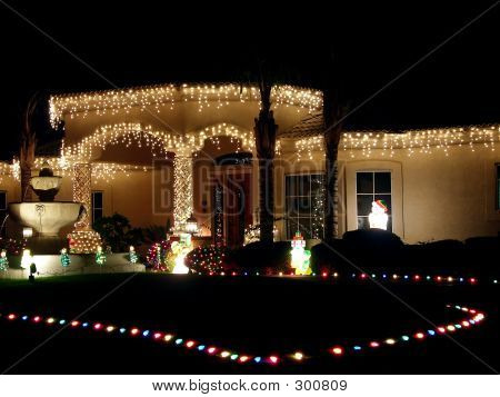 Christmas Lit House