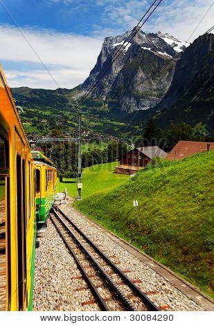 Jungfrau Bahn near Grindelwald Railwaystation, Switzerland