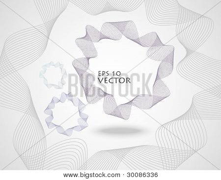 Line Abstract Vector Background