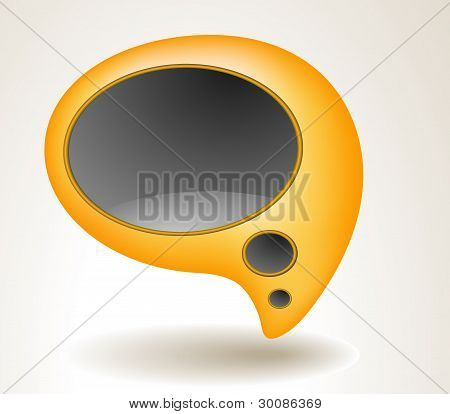 Abstract Yellow Speech Bubble