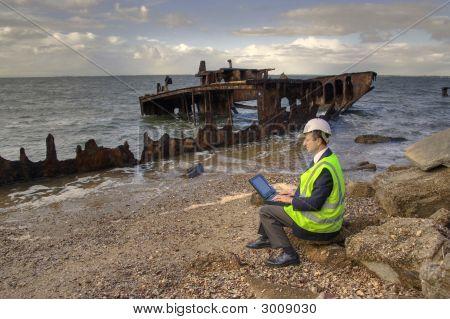 Insurance Assessor At Work