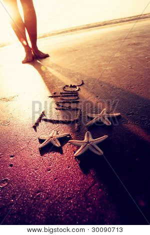 India,feet and starfish.