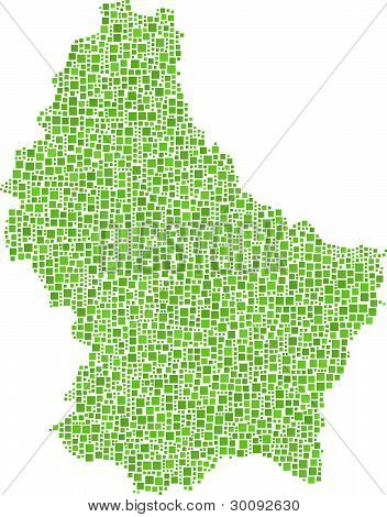 Map of Luxembourg (Europe)