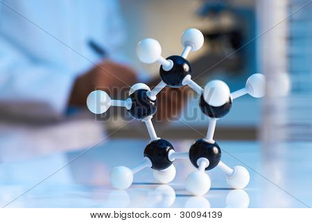 Close Up Of Molecular Model