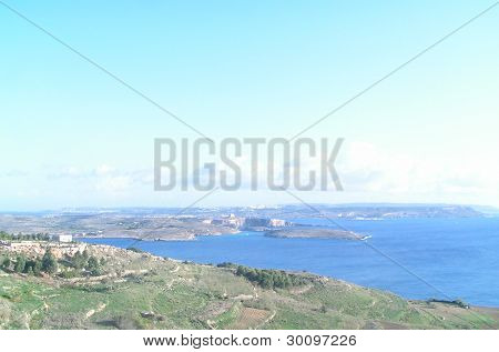 A view from Gozo port