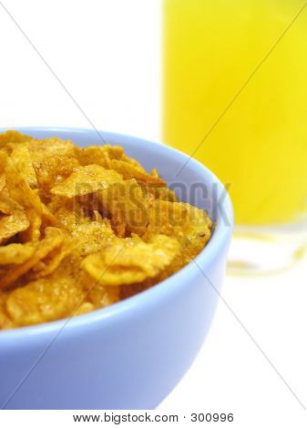 Bowl Of Cereal And Orange Juice 2