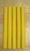 image of taper  - the hand rolled natural beeswax candles taper - JPG