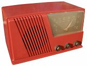 Red Retro Radio