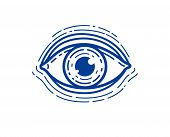 Eye Linear Vector Design Element For Logo Or Icon, All Seeing Eye Of God Or Medical Oculist Symbol. poster