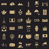 Europe Country Icons Set. Simple Style Of 36 Europe Country Vector Icons For Web For Any Design poster