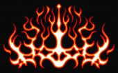 Blazing Fire Decals For The Hood Of The Car. Hot Rod Racing Flames. Vinyl Ready Tribal Flames. Vehic poster