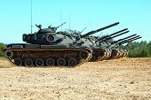 stock photo of m60  - M60 tank a main battle tank with a 105 mm main gun - JPG