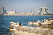 Panorama Of Downtown Manama In Bahrain. Manama, Bahrain. poster