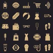 Tourist Shop Icons Set. Simple Set Of 25 Tourist Shop Vector Icons For Web For Any Design poster