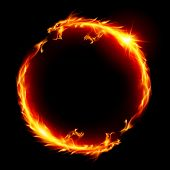 stock photo of dragon head  - Ring of Fire of the Dragon - JPG