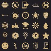 Type Icons Set. Simple Set Of 25 Type Vector Icons For Web For Any Design poster