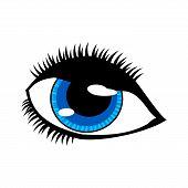 Eye Vector On White Background. Eyes Art. Woman Eye. The Eye Logo. Eyes Art. Human Eye, Eye Icon, Ey poster