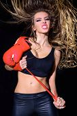 Sexy Sportwoman With Boxing Gloves. Fitness. Healthy Lifestyle. Boxing Gloves. Boxing Girl. Sport. W poster