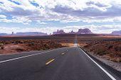 Monument Valley Navajo Tribal Park in Utah USA poster