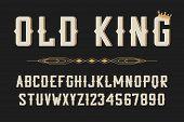 Vintage Stylized Font. Retro Serif Alphabet, Typeface For Vintage Label, Logo, Poster. Vector Illust poster
