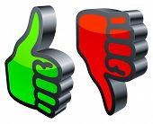 foto of thumbs-up  - Three - JPG