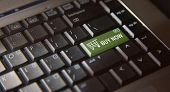 stock photo of clientele  - Computer key board with check out buy now key - JPG