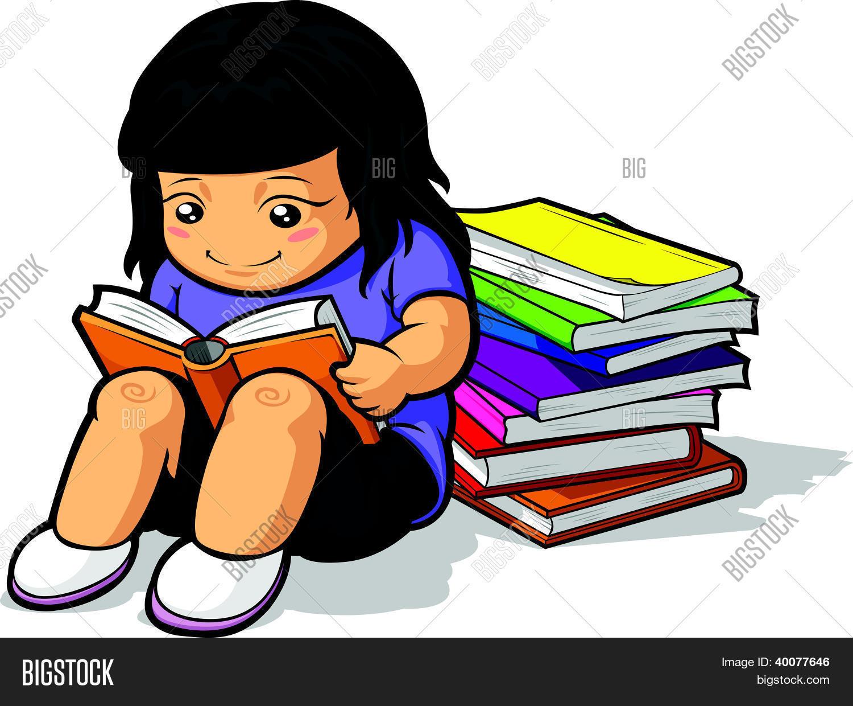Dibujos Animados De Animales Estudiando: Vectores Y Fotos En Stock De Dibujos Animados De Chica