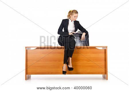 Mujer empresaria en el escritorio