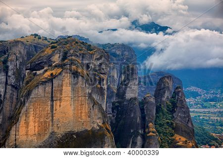 Amazing Landscape At Meteora