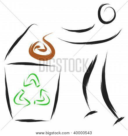 man recycle symbol