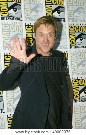 SAN DIEGO, CA - JULY 13: Alan Tudyk attends a press conference for