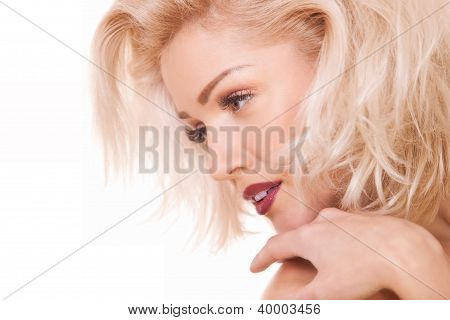 Gentle Blonde Woman