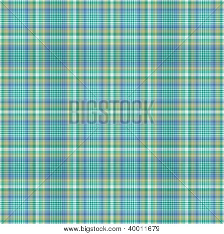 Seamless Aqua Plaid