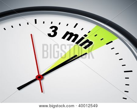 An image of a nice clock with 3 min