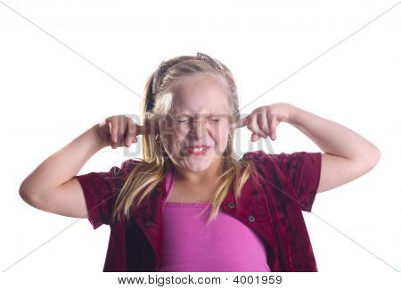 Girl Plugging Ears