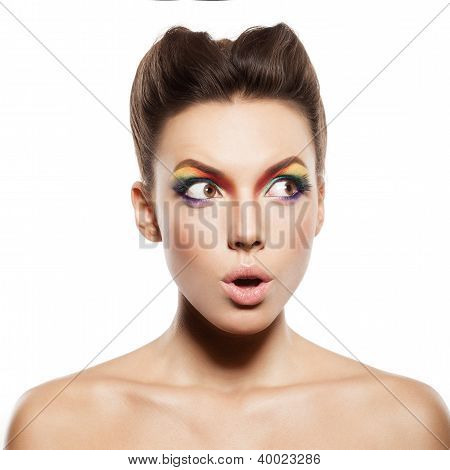 Regenbogen Make-up