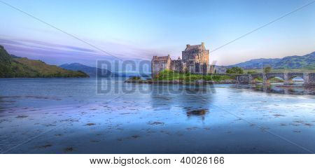 Eilan Donan Castle At Sunset