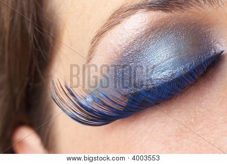 Macro Shot Of Beautiful Eyes