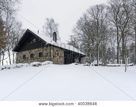 Cottage In Winter Ambiance