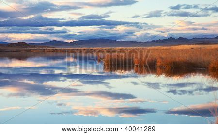 Achitnoor Lake In The Mongolian