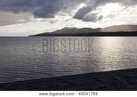 Sunset At Fagnano Lake, Tierra Del Fuego
