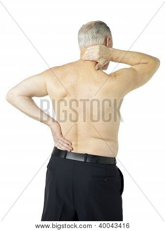 Old Man Suffering Body Pain