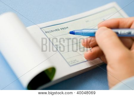 writing a receipt