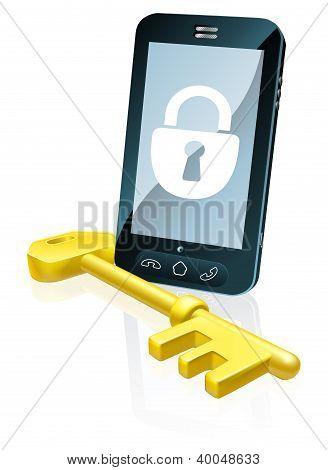 Conceito de segurança do telefone móvel